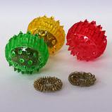 """Массажный шарик-ежик """"Су Джок"""" с 2 кольцами для пальцев и ладоней, диаметр 2 см., фото 2"""