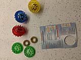 """Массажный шарик-ежик """"Су Джок"""" с 2 кольцами для пальцев и ладоней, диаметр 2 см., фото 6"""