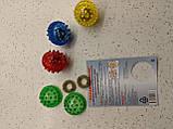 """Массажный шарик-ежик """"Су Джок"""" с 2 кольцами для пальцев и ладоней, диаметр 2 см., фото 7"""