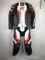Комбинезон мото черно-красно-белый Spidi раздельный 50 размера нет слайдеров ноги