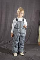 Детский зимний полукомбинезон-штаны, 4 размера, Серый