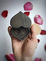 """Шкатулка для свадебных колец """"Сердце"""". Шкатулка для колец из дерева. Шкатулочка для обручальных колец."""