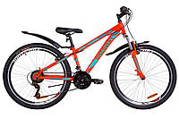 """Велосипед 26"""" Discovery TREK AM 14G Vbr St с крылом Pl 2019 (оранжево-бирюзовый)"""
