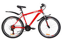 """Велосипед 26"""" Discovery TREK AM 14G Vbr St с крылом Pl 2019 (красный)"""