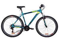 "Велосипед 29"" Discovery TREK AM 14G Vbr St 2019 (малахитовый с желтым (м))"
