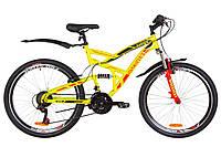 "Велосипед 26"" Discovery CANYON AM2 14G Vbr St с крылом Pl 2019 (желтый)"