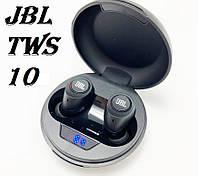 Беспроводные вакуумные наушники JBL TWS-10 в кейсе, фото 1