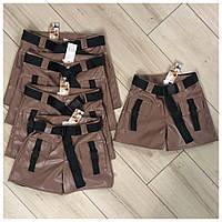 Стильные кожаные шорты для девочки (эко-кожа)