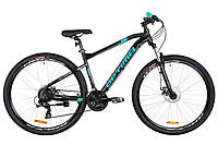 "Велосипед 29"" Optimabikes F-1 AM 14G DD Al 2019 (черно-бирюзовый (м))"