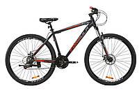 """Велосипед AL 29"""" Formula MOTION AM DD 2020 (серый с красным)"""