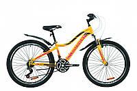 """Велосипед ST 26"""" Discovery KELLY AM Vbr с крылом Pl 2020 (желто-сиреневый с черным)"""