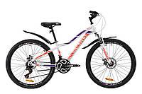 """Велосипед ST 26"""" Discovery KELLY AM DD с крылом Pl 2020 (бело-фиолетовый с оранжевым)"""