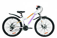"""Велосипед 26"""" Formula ELECTRA DD15 2020 (бело-фиолетовый с оранжевым)"""