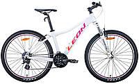 """Велосипед 26"""" Leon HT-LADY 2020 (бело-малиновый с оранжевым)"""