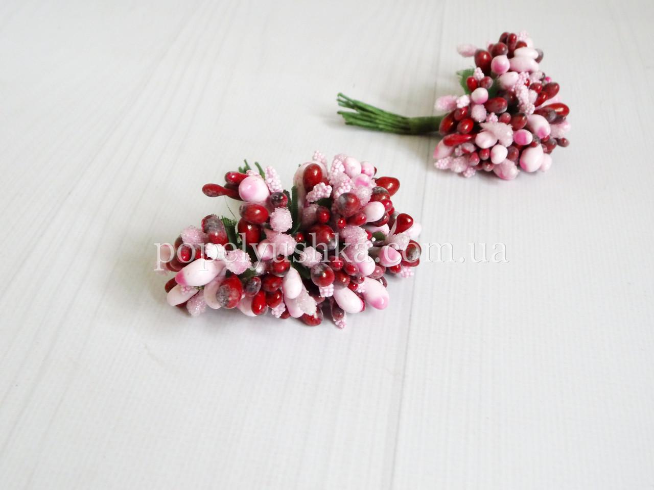 Тичинки дрібноцвіт комбінований рожево-бордовий
