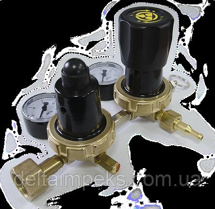 Редуктор двухступенчатый БУД-25ДМ азот, воздух, аргон, СО2, гелий, фото 2