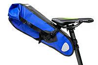 """Велосумка """"байкпакинг"""" под седло 62x14x14cm черно-синий BRAVVOS A2-402 водоотталк. материал"""