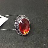 Гранат кольцо с камнем гранат в серебре. Кольцо с гранатом размер 19,8 Индия, фото 2