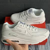 Кроссовки спортивные мужские Nike Air Max 90 белые кросовки осенние