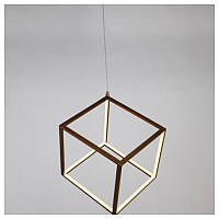Laguna Lighting 43933-32 Люстра CUBE, 540*540*1200мм, коричнева, 32W LED, 4000K