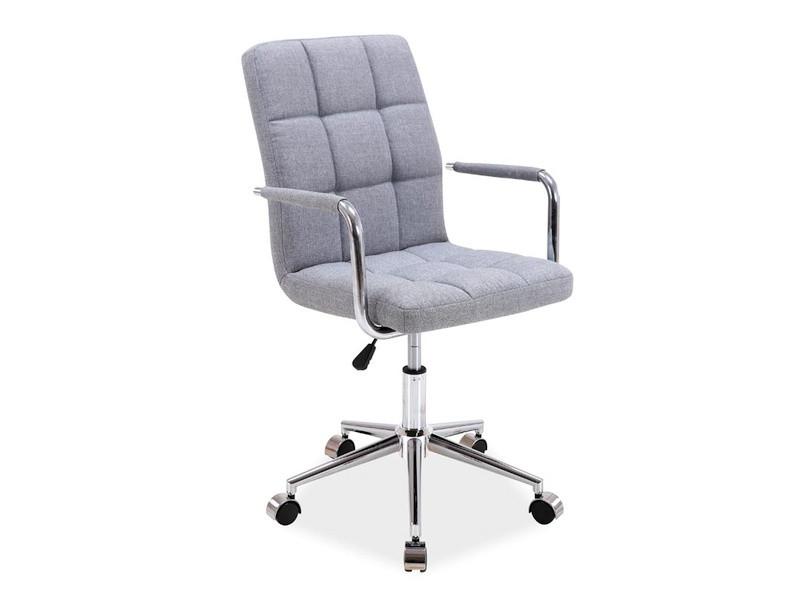 Крісло комп'ютерне Q-022 сірий тканина (Signal)