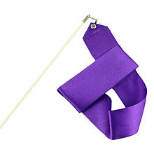 Лента для художественной гимнастики (нейлон, палочка-металл, l-6 м, l-58 см)