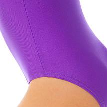 Купальник гимнастический с длинным рукавом Бифлекс фиолетовый детский (р-р S-L, рост 110-140см), фото 3