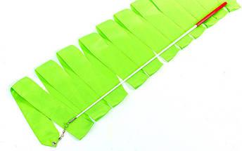 Лента для художественной гимнастики (нейлон, палочка-металл, l-6 м, l-60 см), фото 3