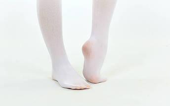 Колготки для танцев и балета Zelart (6-13 лет, белые), фото 3
