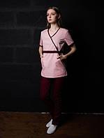 Медицинский женский костюм хирурга (Персиковый)