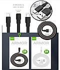 [ОПТ] Дата кабель синхронизации GOLF GC-66 Armor micro USB 1 м для зарядки и передачи данных, фото 6