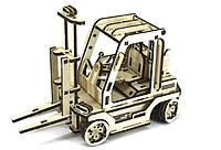 Деревянный конструктор из фанеры погрузчик