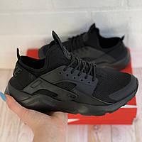 Кроссовки спортивные мужские Nike Huarache кроссовки весенние черные