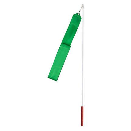 Лента гимнастическая 6м зеленая, фото 2