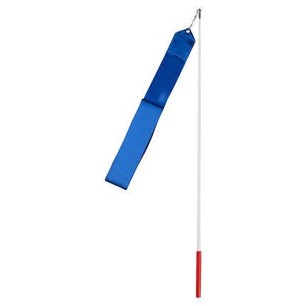 Лента гимнастическая 6м синяя, фото 2