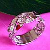 Стильное кольцо из серебра с цирконием - Женское серебряное кольцо, фото 2