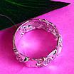 Стильное кольцо из серебра с цирконием - Женское серебряное кольцо, фото 4