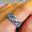 Стильное кольцо из серебра с цирконием - Женское серебряное кольцо, фото 3