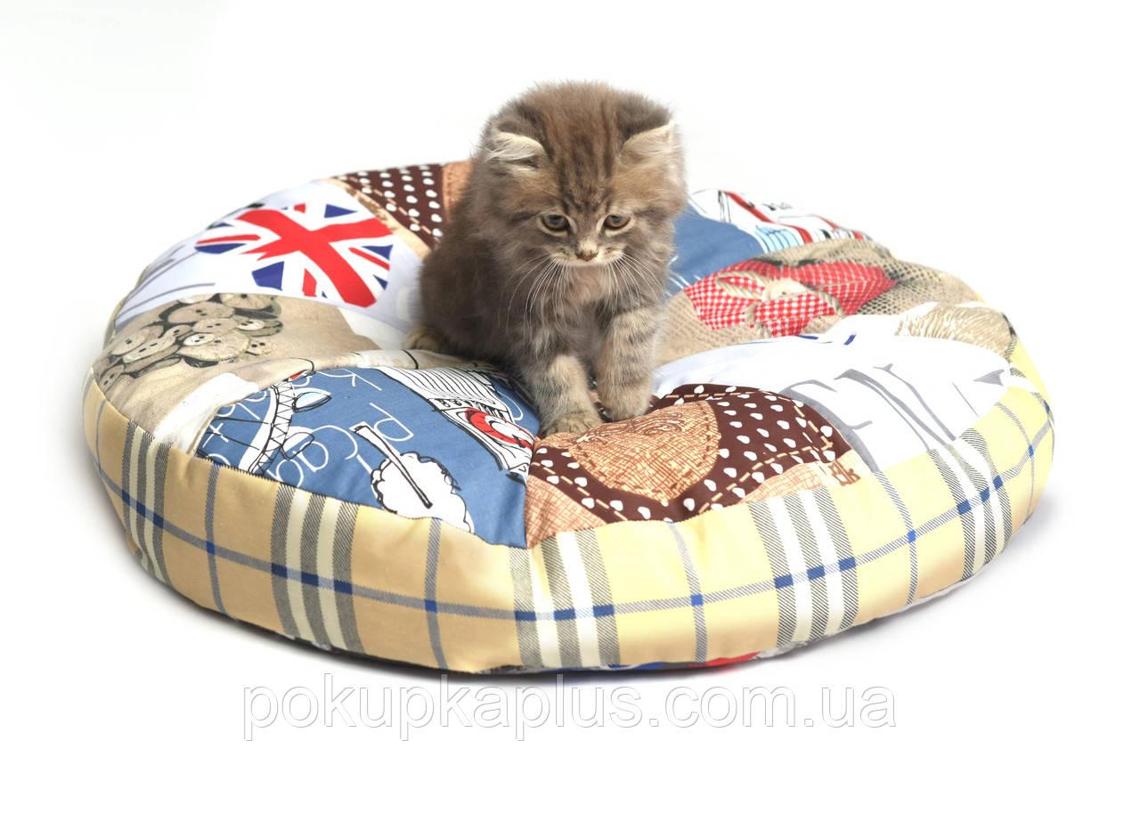 Спальное место для домашних животных Круг 70х17 см