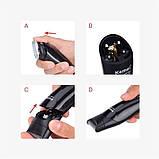 Профессиональная машинка для стрижки волос триммер универсальный Kemei KM-600 11в1 с подставкой, фото 4