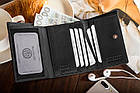 Шкіряний гаманець BETLEWSKI з RFID 12 х 9,5 х 2,5 (BPD-SS-14) - чорний, фото 8