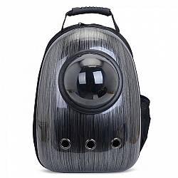 Рюкзак для перенесення тварин з ілюмінатором CosmoPet для кішок і собак Чорний