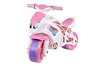 Детский толокар-мотоцыкл для девочки Технок, розовый Украина