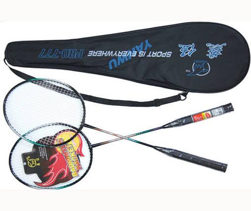 Набор ракеток для бадминтона Yanwu (2шт., чехол в комплекте), фото 2
