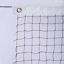 Сетка для бадминтона NB-09A (полиэстер, р-р 6x0,76м, ячейка р-р 2х2см, черный), фото 2