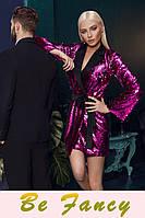 Платье-пиджак с пайетками