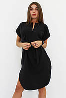 S, M, L, XL | Повседневное женское черное платье Megan