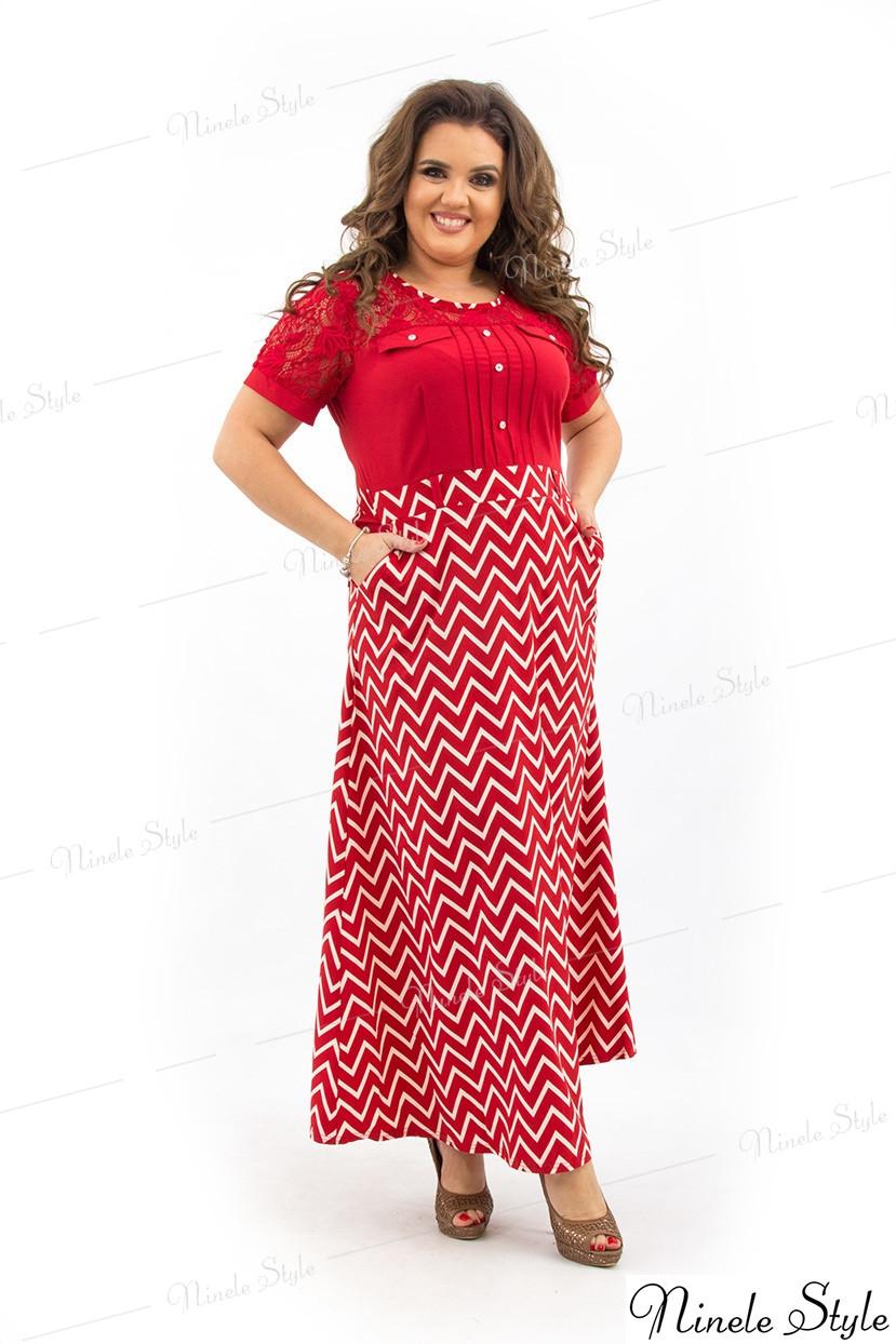 Красное длинное женское платье макси 193-1 54