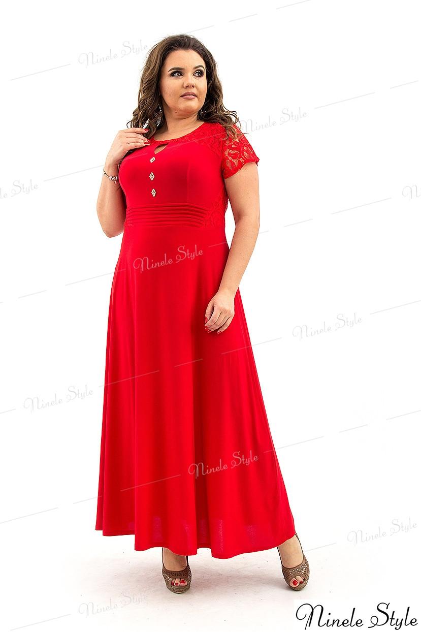 Шикарное вечернее гипюровое красное женское платье  127 54