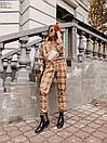 Женский брючный костюм в клетку с кофтой на резинке 60KO543, фото 3